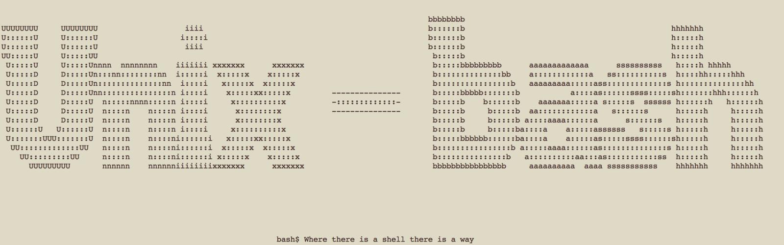 Unix-bash banner