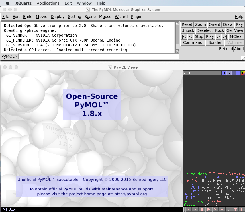 PyMOL 1.8.x as X11 display from docker